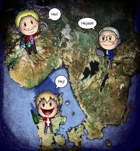 From the amazing online cartoon series Scandinavia and the World.